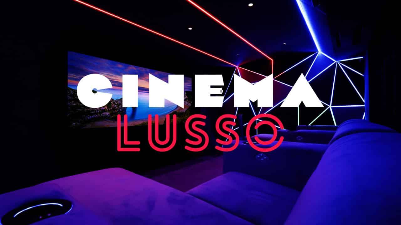 A luxury Home Cinema with dynamic lighting